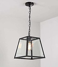 WLP-WF Iron Square Pendant Lamp Glass Shade