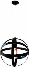 WLP-WF Retro Creative Hanging Lamp Black Round