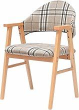 WLP-WF Solid Wood Simple Back Desk Chair Leisure