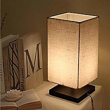 WLP-WF Square Bedside Table Lamp Minimalist Linen