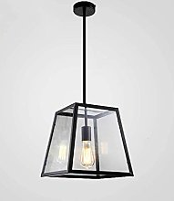 WLP-WF Square Pendant Lamp Iron and Glass Pendant