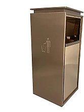 WLP-WF Trash Bin, Stainless Steel Indoor/Outdoor
