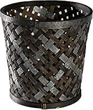 WLP-WF Trash Can, Bamboo Weaving Trash Can Trash