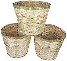 WLP-WF Trash Can, Handmade Rattan Woven Trash
