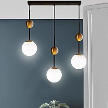 WLP-WF White Glass Shade Pendant Lamp Dining Table