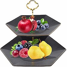 WM-Fruit Plate Fruit Racks,2 Tier Metal Fruit