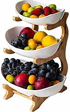 WM-Fruit Plate Storage Bowl,3 Tier Oval Bowl Set