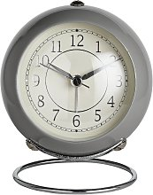 Wm. Widdop Alarm Clock - Silver & Grey