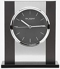 WM. Widdop Black Glass and Brushed Aluminium