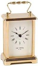 Wm Widdop Rectangular 2 Tone Gold Carriage Clock -