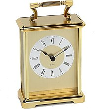 Wm Widdop Rectangular Gold Carriage Clock
