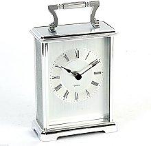 Wm Widdop Rectangular Silver Carriage Clock