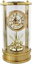 Wm.Widdop Round Gold Mantel Clock Skeleton