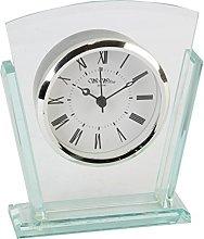Wm.Widdop Two Layered Modern Glass Mantel Clock