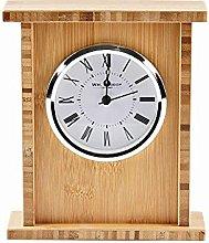 WM. Widdop Wooden Arched Mantel Clock