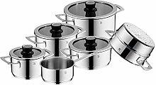 WMF VarioCuisine Saucepan Set 6 Pieces Cromargan