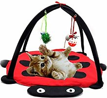 WNZL Pet Tent, Foldable Cat Play Bed, Fun Bell