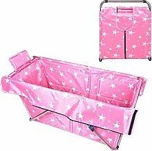 WOF Folding Bathtub-Portable Bathtub for Adults