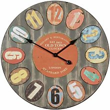 WOHNLING Decorative Vintage Wall Clock XXL