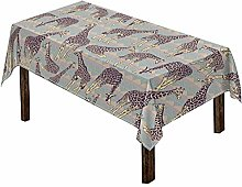 Woisttop Giraffe Pattern Tablecloth for Square