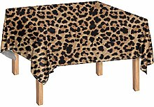 Woisttop Leopard Print Table Covers Table Cloth