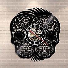 wojinbao LED Halloween wall art skull two head