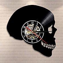 wojinbao LED Skull silhouette wall clock skull