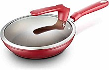 Woks and stir Fry Pans, Red Non-Stick Cooker Gas