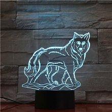 Wolf Animal 3D Lamp USB Night Light LED Lighting