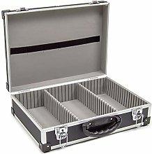 Wolf Black 425mm CD DVD Aluminium Case Tool Box