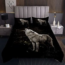 Wolf Coverlet Safari Animal Pattern Bedspread for