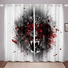 Wolf Curtain for Bedroom Child Safari Animal