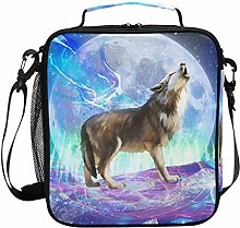 Wolf Lunch Bag Galaxy Lunch Box Cool Large