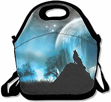 Wolf Moon Cool Neoprene Lunch Bag -Lunch Box Food