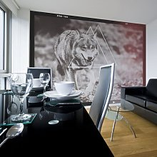 Wolf Photo 1.54m x 200cm Wallpaper East Urban Home