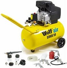 Wolf Sioux 50 Air Compressor with 5pc Spray Kit &