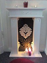Wolkenstube Decorative Fireplace Black White