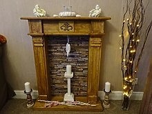 Wolkenstube Decorative Fireplace Deluxe Chocolate,