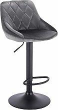 WOLTU Bar Stool Dark Grey Bar Chair Breakfast