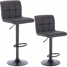 WOLTU Bar Stools Anthracite Bar Chairs Breakfast