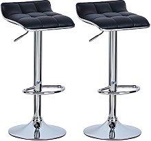 WOLTU Bar Stools Black Bar Chairs Breakfast Dining