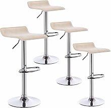 WOLTU Bar Stools Cream Bar Chairs Breakfast Dining