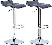 WOLTU Bar Stools Grey Bar Chairs Breakfast Dining