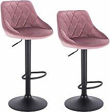 WOLTU Bar Stools Pink Bar Chairs Breakfast Dining
