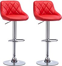 WOLTU Bar Stools Red Bar Chairs Breakfast Dining