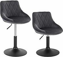 WOLTU Bar Stools Set of 2 pcs Dark Grey Bar Chairs