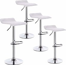 WOLTU Bar Stools White Bar Chairs Breakfast Dining