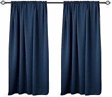 WOLTU Blackout Curtain Rod Pocket Thermal