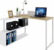 WOLTU Computer Office Desk Wood L-Shaped Corner
