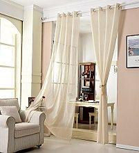 WOLTU Curtain Eyelet Bedroom Top Sheer Voile